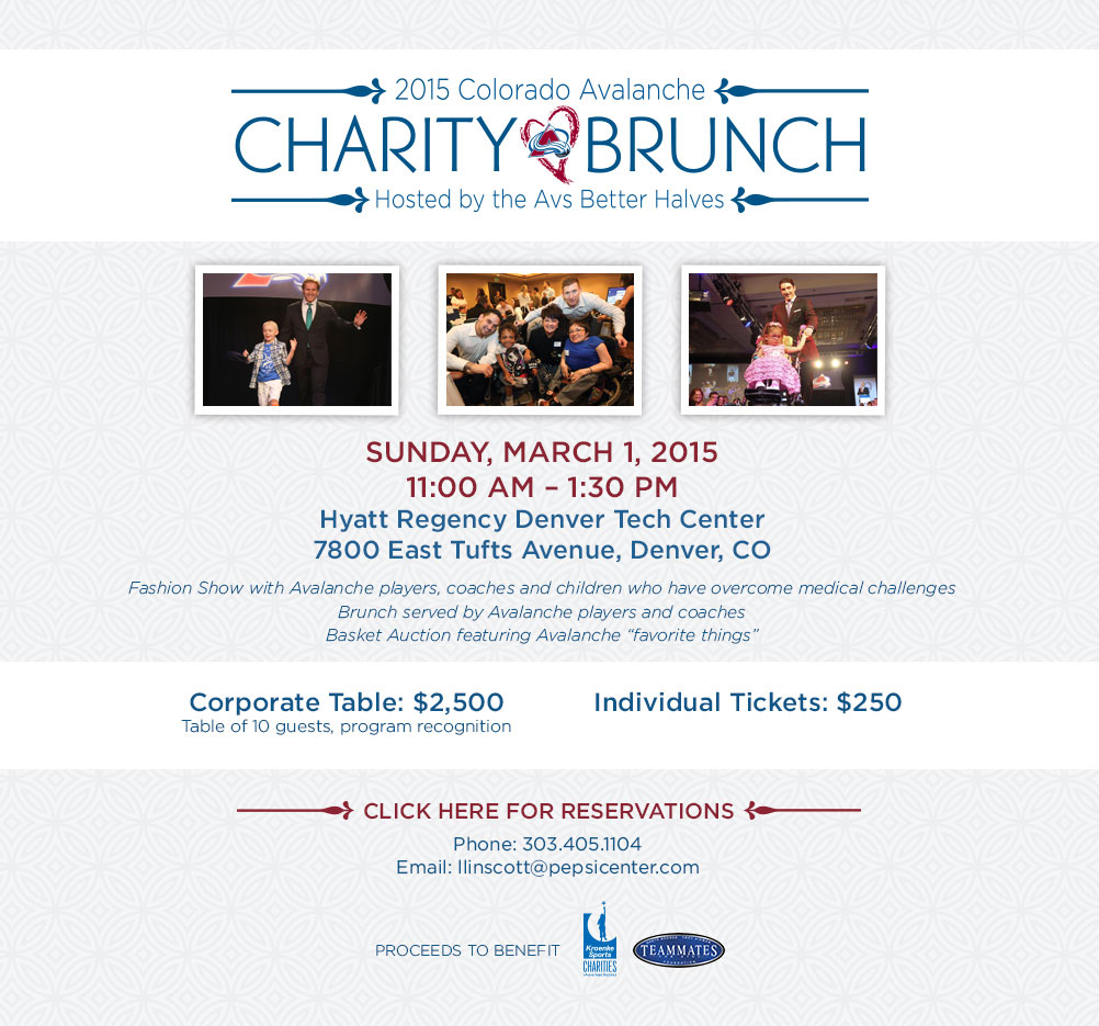 Colorado Avalanche Charity Brunch