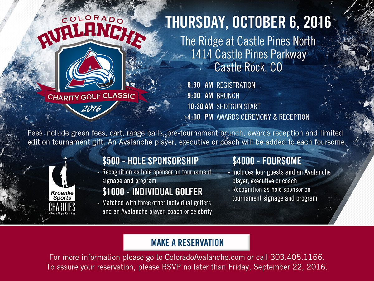 Colorado Avalanche Celebrity Golf Classic